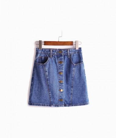 Romwe Denim Skirt